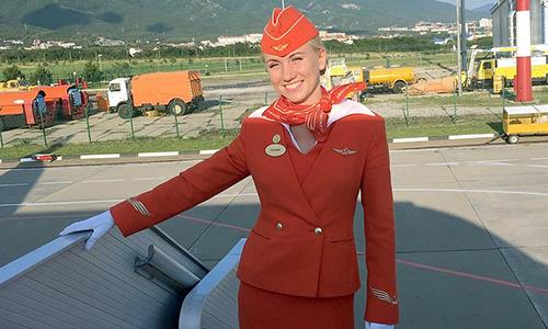 Nữ tiếp viên hãng hàng không Aeroflot,Tatyana Kasatkina. Ảnh: Newsy People