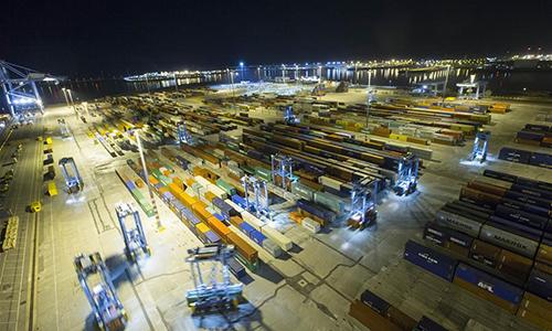 Ảnh chụp bến tàucảng Zeebrugge, Bỉ ngày 15/10/2018. Ảnh: Xinhua