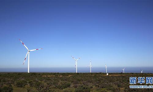 Một góc trang trại gió Punta Siera, ngoại ô thành phố Ovalle, Chile ngày 24/8/2018. Ảnh: Xinhua
