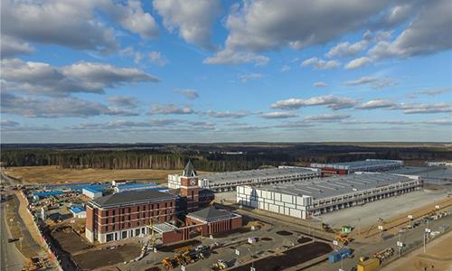 Một góc khu công nghiệp Trung Quốc-Belarus. Ảnh: Xinhua