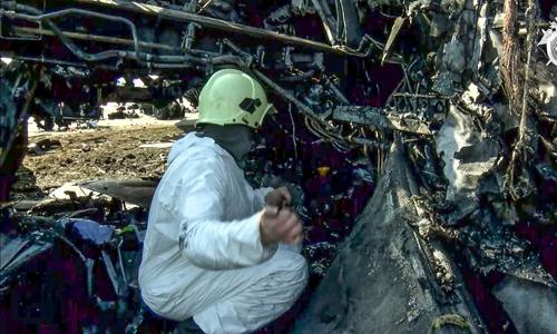 Một hộp đen máy bay Nga gặp nạn bị hư hại nghiêm trọng