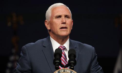Phó tổng thống Mỹ Mike Pence phát biểu tại một hội nghị ở thủ đô Washington hôm 6/5. Ảnh: AFP.