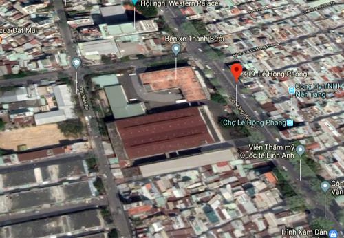 Khu đất 419 Lê Hồng Phong nằm ở trung tâm quận 10. Ảnh: Google maps