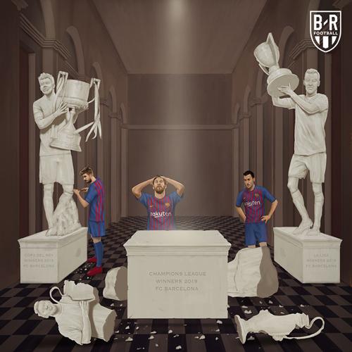 Giấc mơ vô địch của Barca đã hoàn toàn tan vỡ.