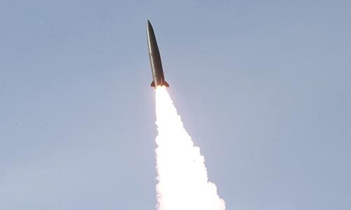 Triều Tiên phóng tên lửa tầm ngắn ngày 4/5. Ảnh: KCNA.