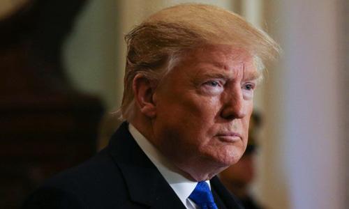 Tổng thống Mỹ Donald Trump tại Tòa nhà Quốc hội ở thủ đô Washington hồi tháng 3. Ảnh: Reuters.
