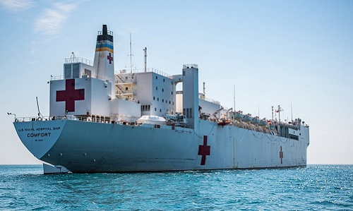Tàu bệnh viện USNS Comfort. Ảnh: Navy Times.