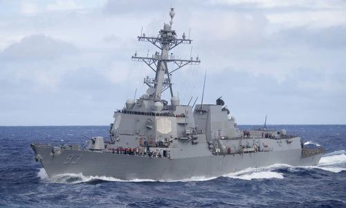 Tàu khu trục USS Preble của Mỹ hoạt động ở Biển Đông đầu năm 2019. Ảnh: US Navy.