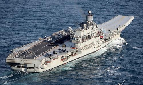 Tàu sân bay Đô đốc Kuznetsov của hải quân Nga. Ảnh: Ria Novosti.