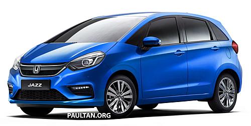 Ảnh phát thảo của Paultan về thiết kế Honda Jazz 2020.