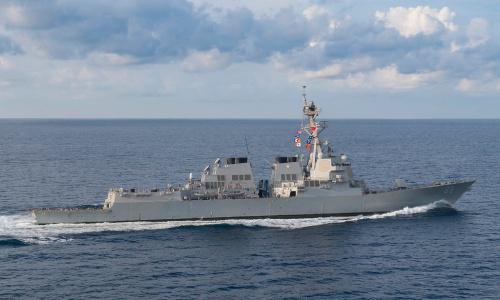 Tàu USS Preble của Mỹ. Ảnh: US Navy.