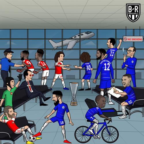 Arsenal và Chelsea tạo nên trận chung kết Europa League toàn Anh.
