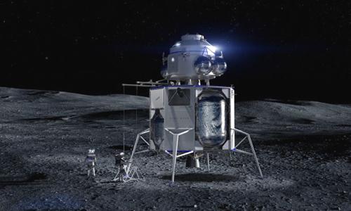 Thiết kế của tàu vũ trụ phóng lên Mặt Trăng, Blue Moon. Ảnh: Space.
