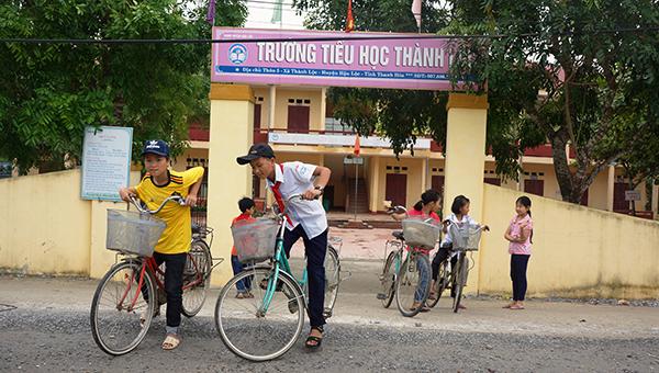 Trường Tiểu học Thành Lộc. Ảnh: Lê Hoàng.