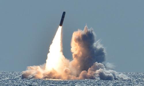 ên lửa Trident D5 trong một đợt phóng thử nghiệm. Ảnh: US Navy.