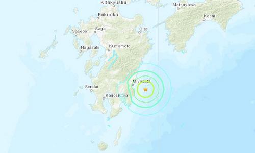Vị trí tâm chấn trong trận động đất sáng 10/5. Đồ họa: USGS.
