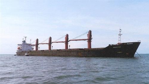 Tàu chở hàng tải trọng lớn Wise Honest của Triều Tiên. Ảnh: AFP.