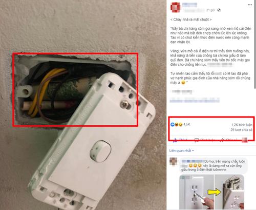 Chia sẻ của thợ điện bất đắc dĩ nhận được hàng nghìn lượt thích và bình luận.