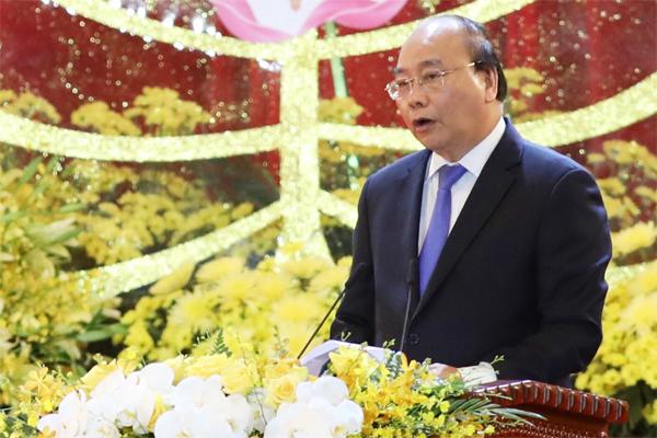 Thủ tướng Nguyễn Xuân Phúc tại lễ khai mạc ngày 12/5. Ảnh: Ngọc Thành