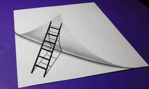 Vẽ 3D biến một tờ giấy thành hai
