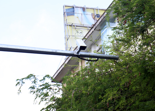 Hệ thống camera giám sát được lắp ở khắp các tuyến đường sẽ góp phần bảo đảm an ninh trật tự tại TP HCM. Ảnh: Hữu Nguyên