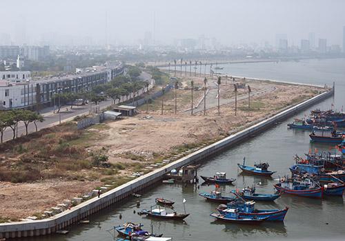 Hai dự án lấn sông Hàn sẽ không còn nhà cao tầng. Ảnh: Nguyễn Đông.