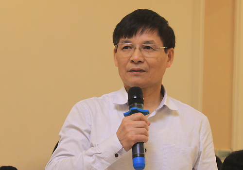 Ông Trương Văn Cầm, đại diện Hiệp hội Dệt may Việt Nam. Ảnh: Anh Duy.