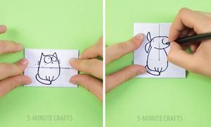 Mẹo gấp giấy vẽ tranh dành cho trẻ