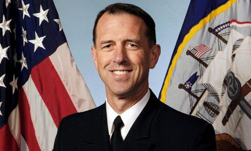 Tư lệnh Hải quân Mỹ, Đô đốc John Richardson. Ảnh: AP.