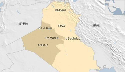Vị trí tương quan giữa Iran, Iraq và Syria. Đồ họa: BBC