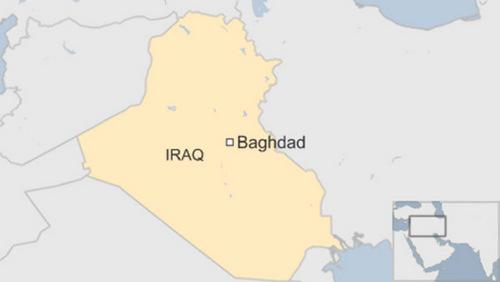 Vị trí thủ đô Baghdad của Iraq. Đồ họa: BBC.