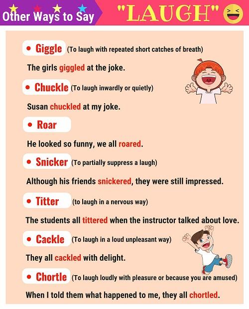 Những từ vựng thay thế laugh