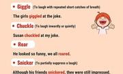 Những từ vựng thay thế 'laugh'