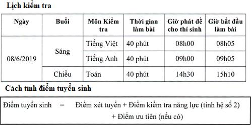 Thêm trường chất lượng cao ở Hà Nội tổ chức thi tuyển vào lớp 6 - 1