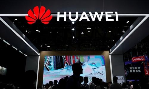 Gian hàng của Huawei tại triển lãm công nghệ CES năm ngoáiở Trung Quốc. Ảnh:Reuters.