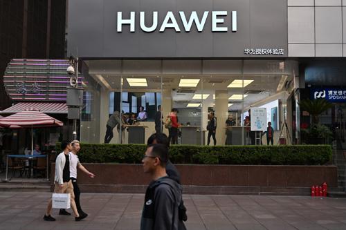 Một cửa hàng của Huawei tại Thượng Hải, Trung Quốc. Ảnh: AFP.