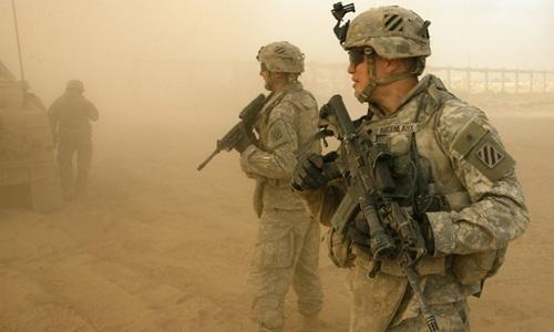 Các binh sĩ Mỹ ở Baghdad, Iraq, hồi năm 2007. Ảnh: Reuters.