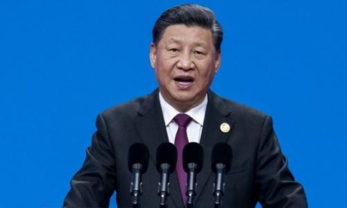 Chủ tịch Trung Quốc Tập Cận Bình phát biểu tại Bắc Kinh ngày 15/5. Ảnh: AFP.
