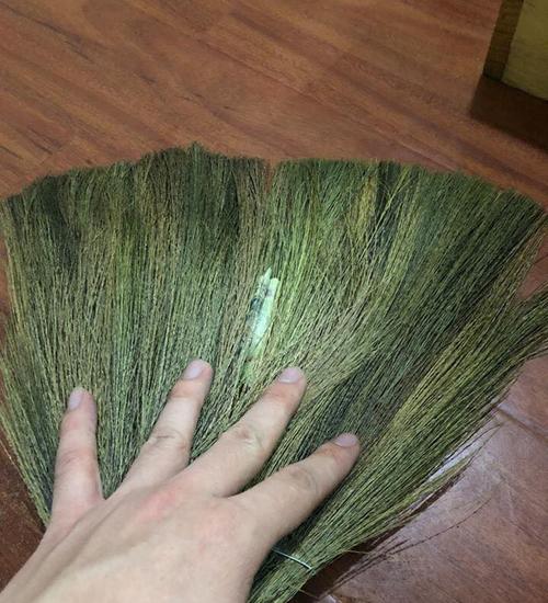 Tiền được giấu trong chiếc chổi.