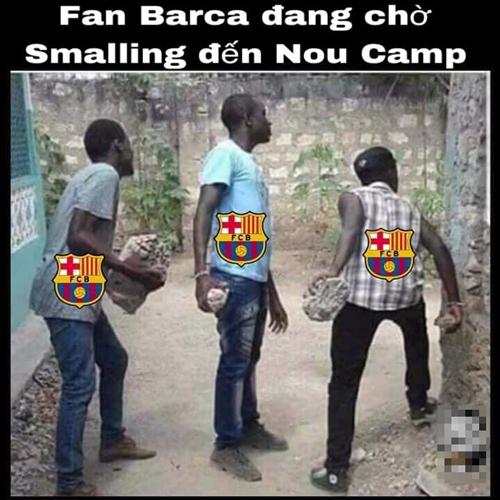 Tâm trạng fan Barca lúc này.