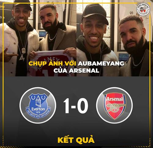 Arsenal thua Everton trong trận đấu ở Ngoại hạng Anh.