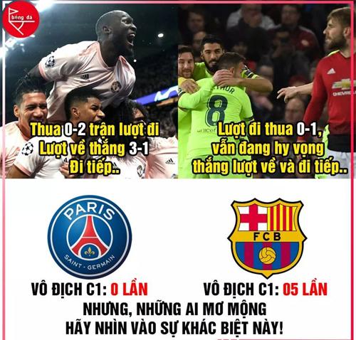 Sự khác biệt giữa PSG và Barca.