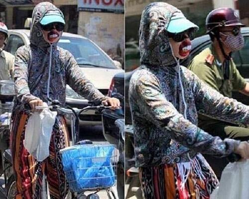 Thời trang chống nắng cho những thành viên 'khẩu nghiệp'.