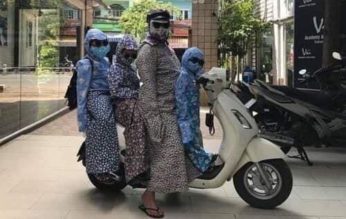 Đại gia đình ninja xuống phố.