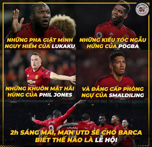 Ai cũng nghĩ Barca mạnh hơn nhưng fan MU không nghĩ vậy.