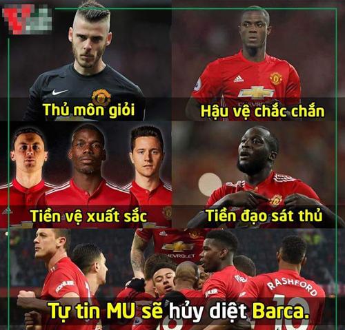 Ai tin MU thắng Barca điểm danh nào.