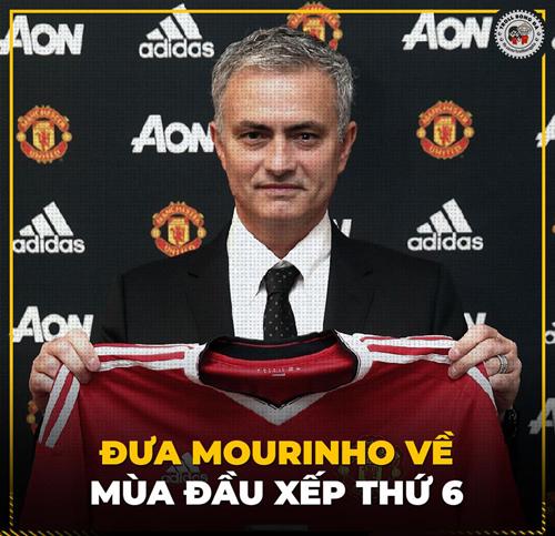Mùa đầu tiên của Mourinho kết thúc với vị trí thứ 6 trên BXH.