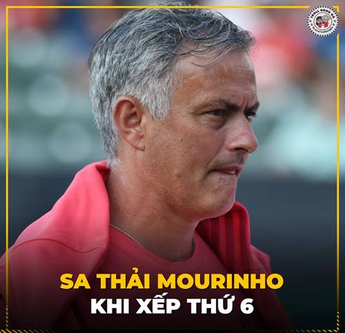 Vị trí thứ 6 khiến Mourinho bị sa thải.