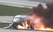 Giây phút máy bay Nga 'nẩy như châu chấu' trước khi bốc cháy