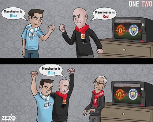 Tình hình fan thành Manchester lúc này.